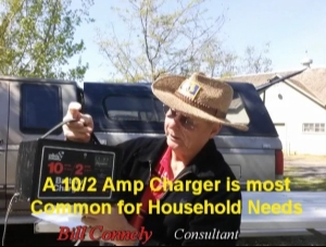 Charging a battery with a battery charger 2